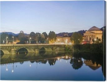 Turin (Torino), river Po and Gran Madre Canvas Print