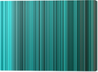 Turquoise colors abstract vertical lines background. Canvas Print
