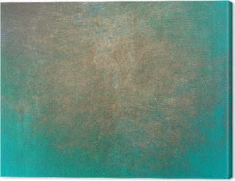 Turquoise concrete grunge texture for background Canvas Print
