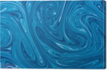 turquoise watercolor marble background Canvas Print