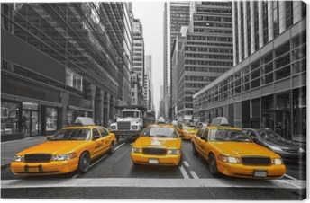 TYellow taxis in New York City, USA. Canvas Print