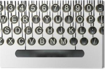 Typewriter keys, vintage keyboard isolated white
