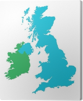 Uk and ireland map wall mural pixers we live to change uk and ireland map canvas print publicscrutiny Image collections