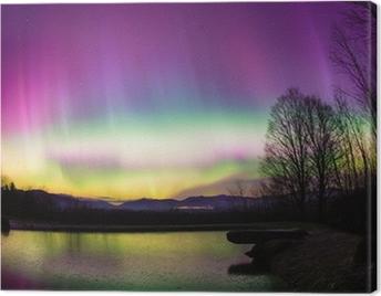 Uncommon Aurora Borealis in Vermont. Canvas Print