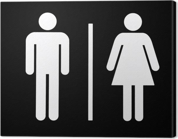 Unisex Bathroom Symbol Canvas Print Pixers We Live To Change - Unisex bathroom sign