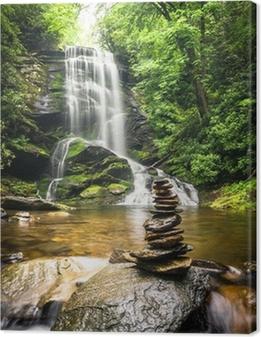 Upper Catabwa Falls 3 Canvas Print
