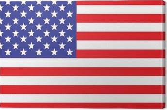 US, USA Flag Canvas Print