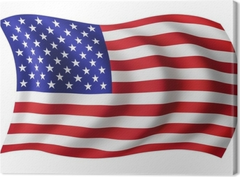 USA flag United States - American flag Canvas Print