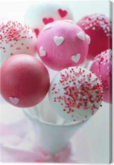 Valentine cake pops Canvas Print