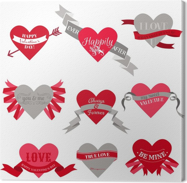 Valentine\'s Day Heart Labels, Tags, Ribbons, Frames - for scrap ...