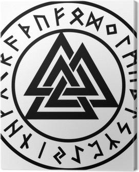 Valknut, Runen Kreis, Odin Symbol, Dreieinigkeit Canvas Print