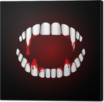 Vampire teeth Canvas Print