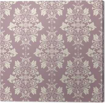 Vector Classic Wallpaper Damask Background Canvas Print