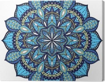 Vector, elegant mandala, with intricate detail. Canvas Print