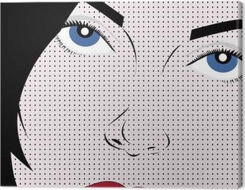 Vector Girl in Pop Art Style Canvas Print