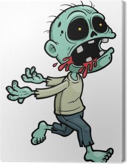 Vector illustration of Cartoon zombie Canvas Print