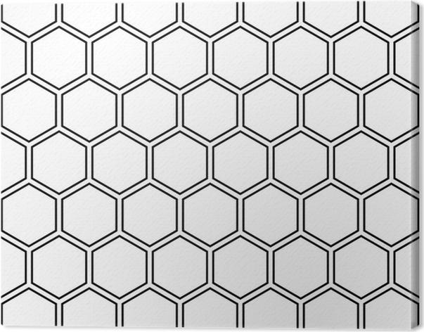 Vector Modern Seamless Geometry Pattern Hexagon Black And