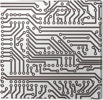 Vector seamless pattern - electronic circuit board background ...