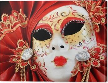Venetian Carnival Mask Canvas Print
