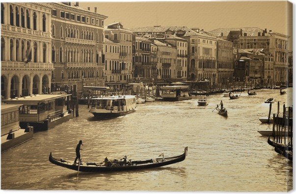 Venice in sepia toned canvas print pixers we live to for Castorama mestre