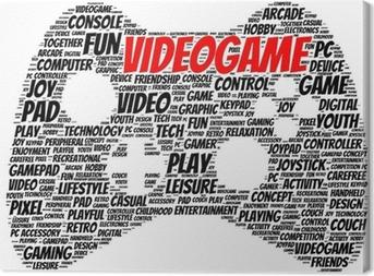 Video game word cloud shape