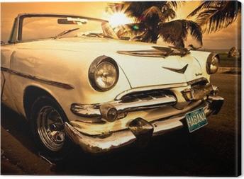 Vieille voiture américaine, Cuba Canvas Print