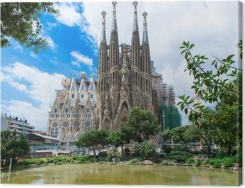 view of Sagrada Familia in Barcelona. Spain Canvas Print