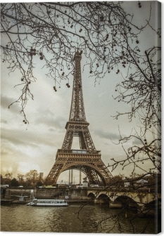 View of the Eiffel Tower Canvas Print