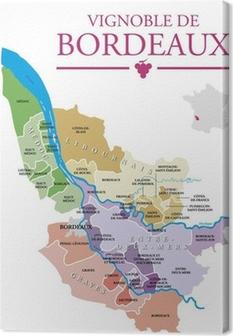 Vignoble de Bordeaux Canvas Print
