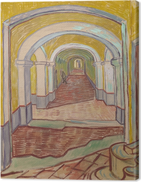 Vincent van Gogh - Corridor in the Asylum Canvas Print - Reproductions
