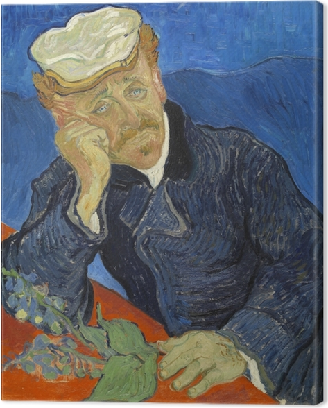 Vincent van Gogh - Dr. Paul Gachet Canvas Print - Reproductions