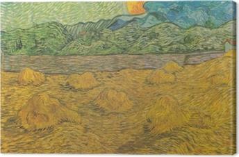 Vincent van Gogh - Evening landscape with rising moon Canvas Print