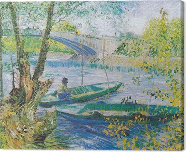 Vincent van Gogh - Fishing in Spring Canvas Print - Reproductions