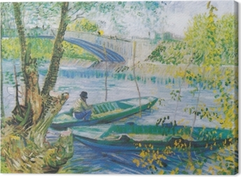 Vincent van Gogh - Fishing in Spring Canvas Print