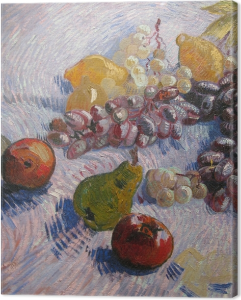 Vincent van Gogh - Grapes, Lemons, Pears and Apples Canvas Print - Reproductions