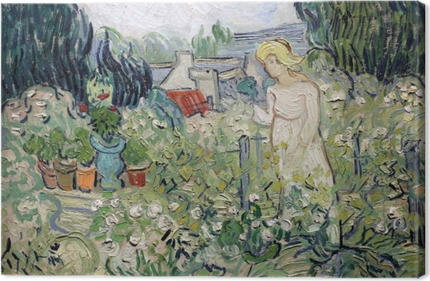 Vincent van Gogh - Mademoiselle Gachet in her garden at Auvers Canvas Print - Reproductions