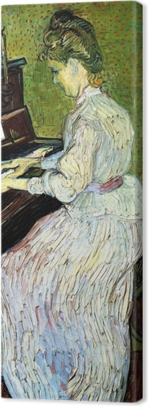 Vincent van Gogh - Marguerite Gachet at the piano Canvas Print - Reproductions
