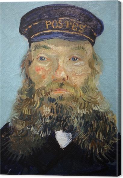 Vincent van Gogh - Portrait of the Postman Joseph Roulin Canvas Print - Reproductions