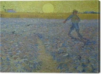 Vincent van Gogh - Sower at Sunset Canvas Print