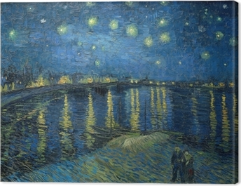 19ab2770 Vincent van Gogh - Starry Night Over the Rhone Canvas Print