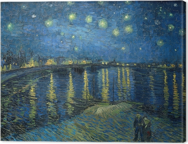 Vincent van Gogh - Starry Night Over the Rhone Canvas Print - Reproductions