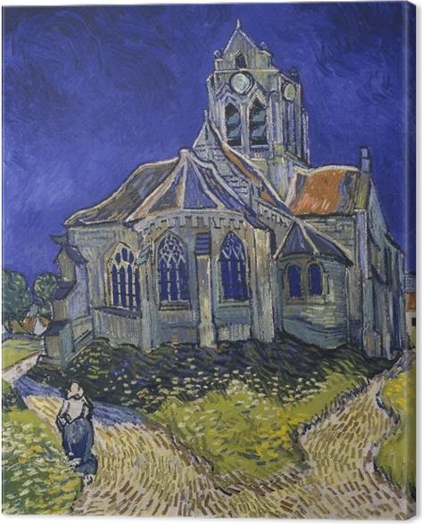 Vincent van Gogh - The church in Auverssur Canvas Print - Reproductions