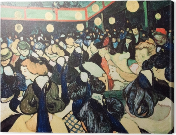 Vincent van Gogh - The Dance Hall in Arles Canvas Print - Reproductions