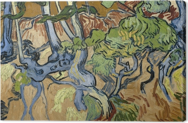 Vincent van Gogh - Tree roots Canvas Print - Reproductions