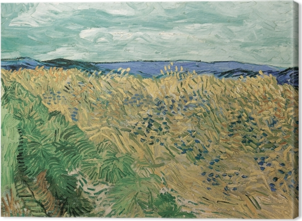 Vincent van Gogh - Wheat Field with Cornflowers Canvas Print - Reproductions
