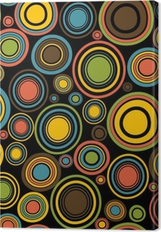 Vintage abstract seamless pattern with circles Canvas Print
