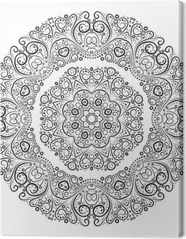 Vintage antique ornament background. Vector illustration. Canvas Print