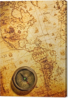 Vintage compass lies on an ancient world map wall mural pixers vintage compass lies on an ancient world map canvas print gumiabroncs Gallery