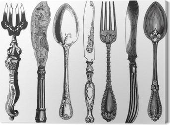Vintage cutlery Canvas Print