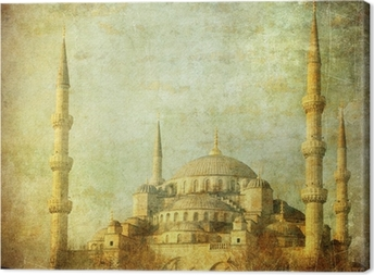 Vintage image of Blue Mosque, Istambul Canvas Print